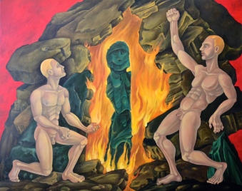 Redemption of the Father, 2013, oil on canvas, 40 by 50""