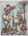 Herakles & Telephos 2015 watercolor and graphite on paper, 9 by 12 inches