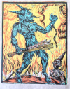 Blue Krampus!, 2014, 9 by 12""