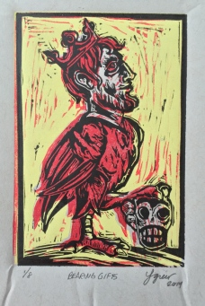 Bearing Gifts 2015 relief print